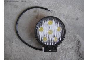 LED werklampen rond 18 watt , 5 leds , 10-30 Volt